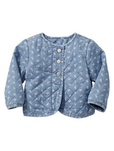 Adorable #paddingtonbear for #babyGAP denim quilted jacket #hereandnow on the blog #homerandruth