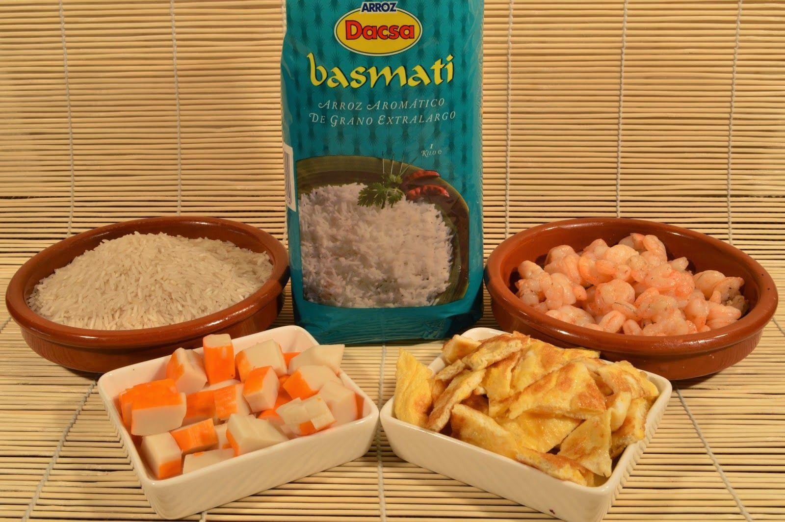 Ingredientes para Arroz con tres delicias