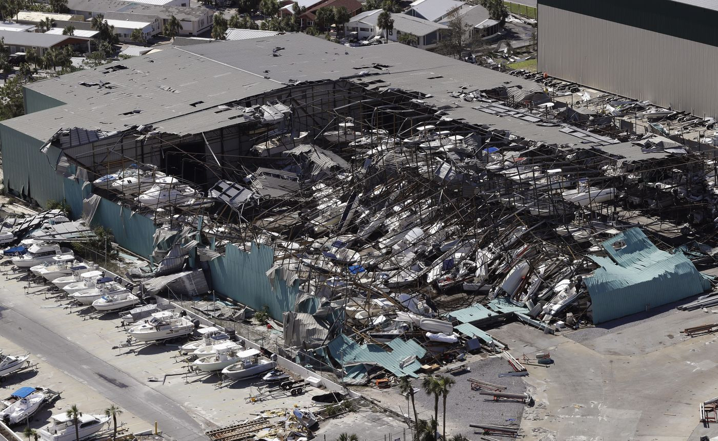 A Roof Over A Boat Storage Building Is Collapsed Following Hurricane Michael Thursday Oct 11 2018 In Panama Cit Panama City Panama Storm Surge Mexico Beach