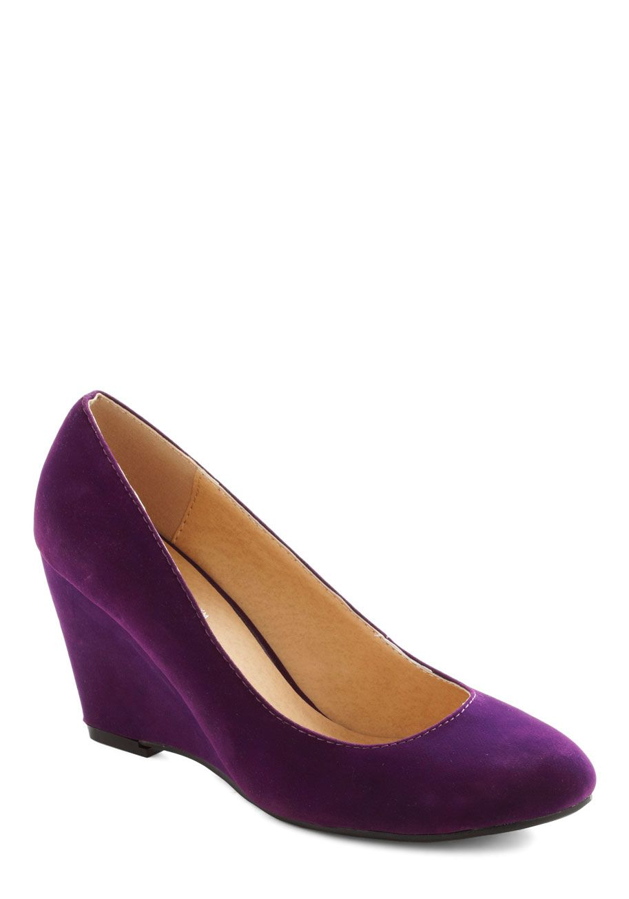 On The Wedge Of Glory In Purple After Slipping Your Feet Into These