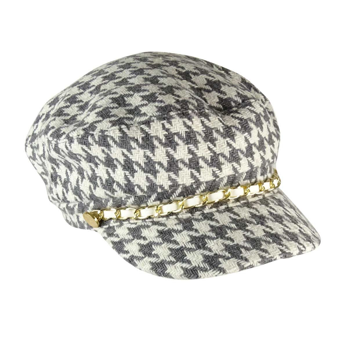 August Accessories Women\'s Casual Houndstooth Conductor Cap ...