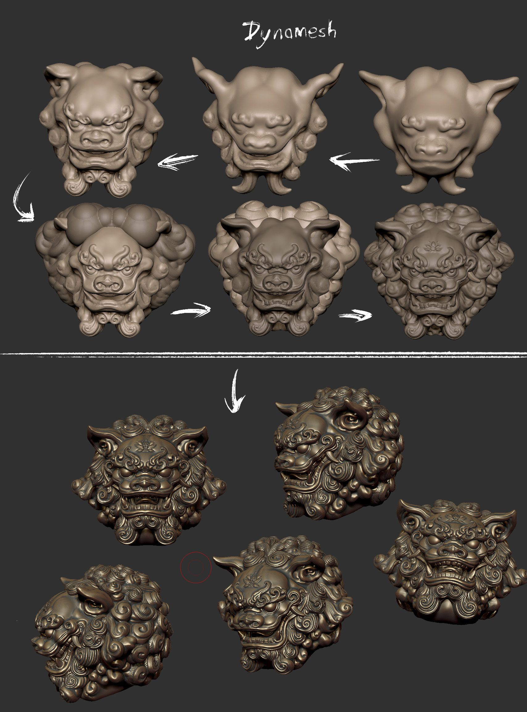 ZBrush sketchbook of Zhelong Xu Page 17 (With images)