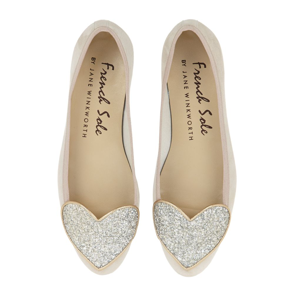 100 beautiful wedding shoes for the bride | Suede flats, Sole and Nude