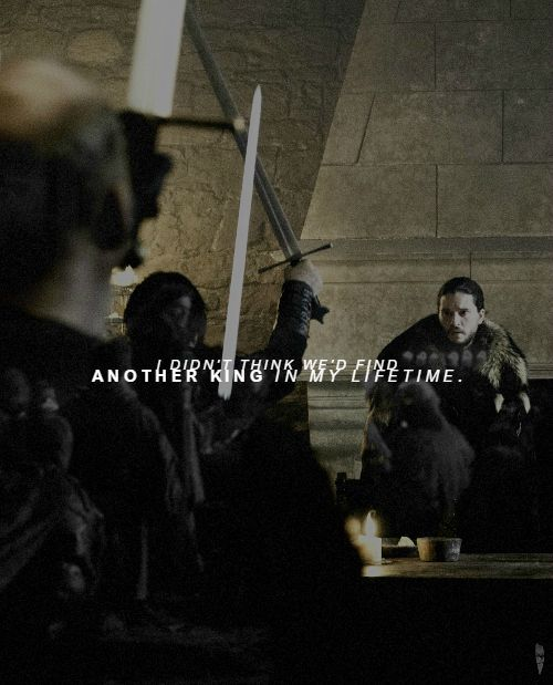 *******And I will stand behind Jon Snow…                                         The King in the North!*******