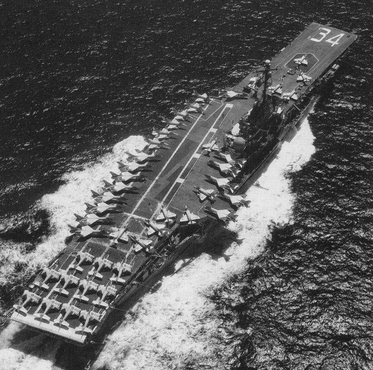 Uss Ticonderoga In Vietnam Cvw 16 Carrier Air Wing