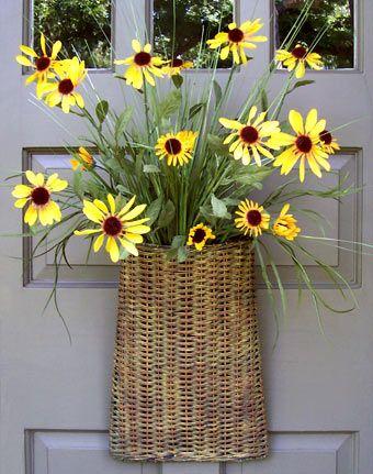 Wildflower Door Basket Creative Decorations By Ridgewood Designs