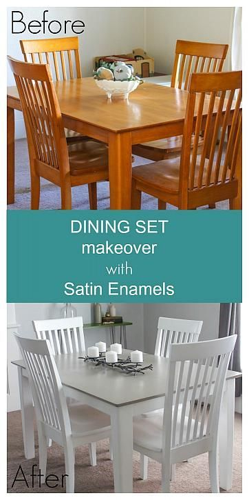 Dining Set Makeover With Satin Enamels  Diy Projects I Love Interesting Diy Dining Room Table Makeover Design Ideas