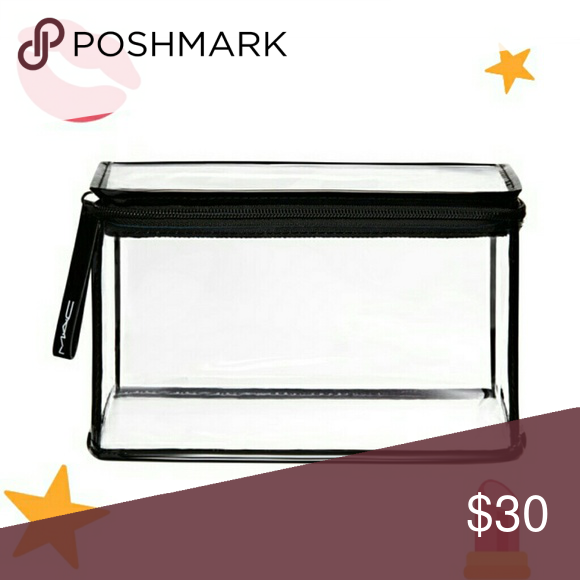 💄 MAC Clear Cosmetic Bag The Clearly M.A.C. Large Rectangle Cosmetic Bag  Sturdy clear structure with zipper closure Brand new,  never used in excellent condition.  8.5 × 5.38 × 5 in.  🌟 Price is FIRM 🌟 MAC Cosmetics Bags Cosmetic Bags & Cases