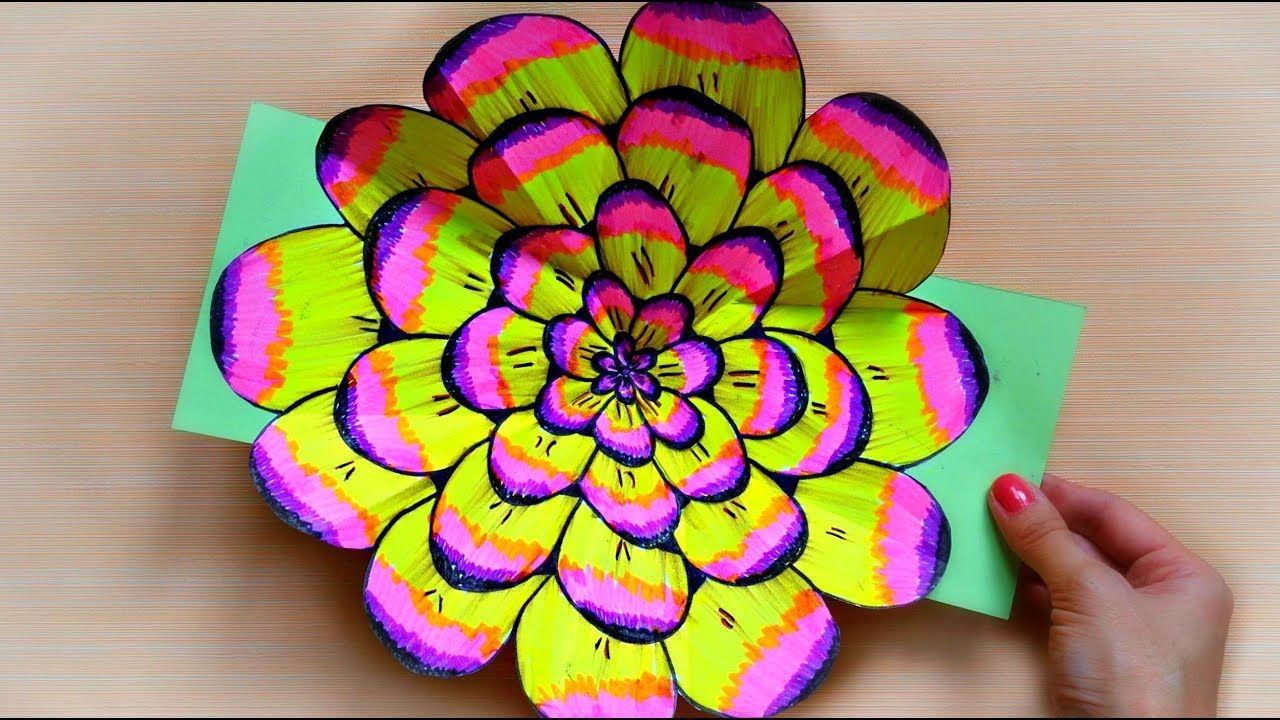 explosion pop up flower card  how to make pop up cards