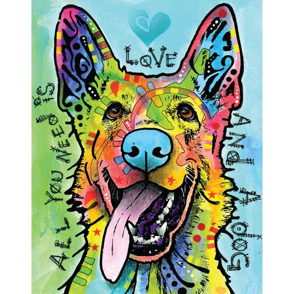 german shepherd pop art decal love and a dog by dean russo german shepherd pop art decal love and a dog by dean russo
