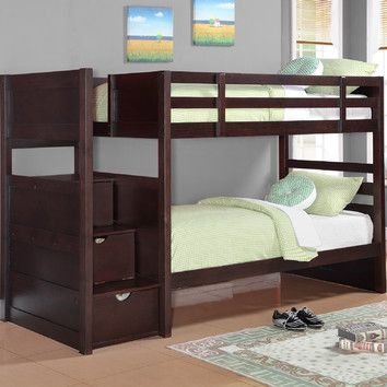 Ryan Twin Over Twin Bunk Bed Sleepytime Room Bunk Beds Bunk