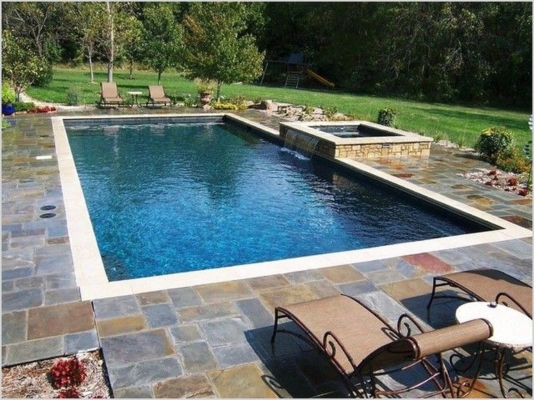 35 Exciting Rectangle Pool Landscaping Ideas Page 32 Of 39 In