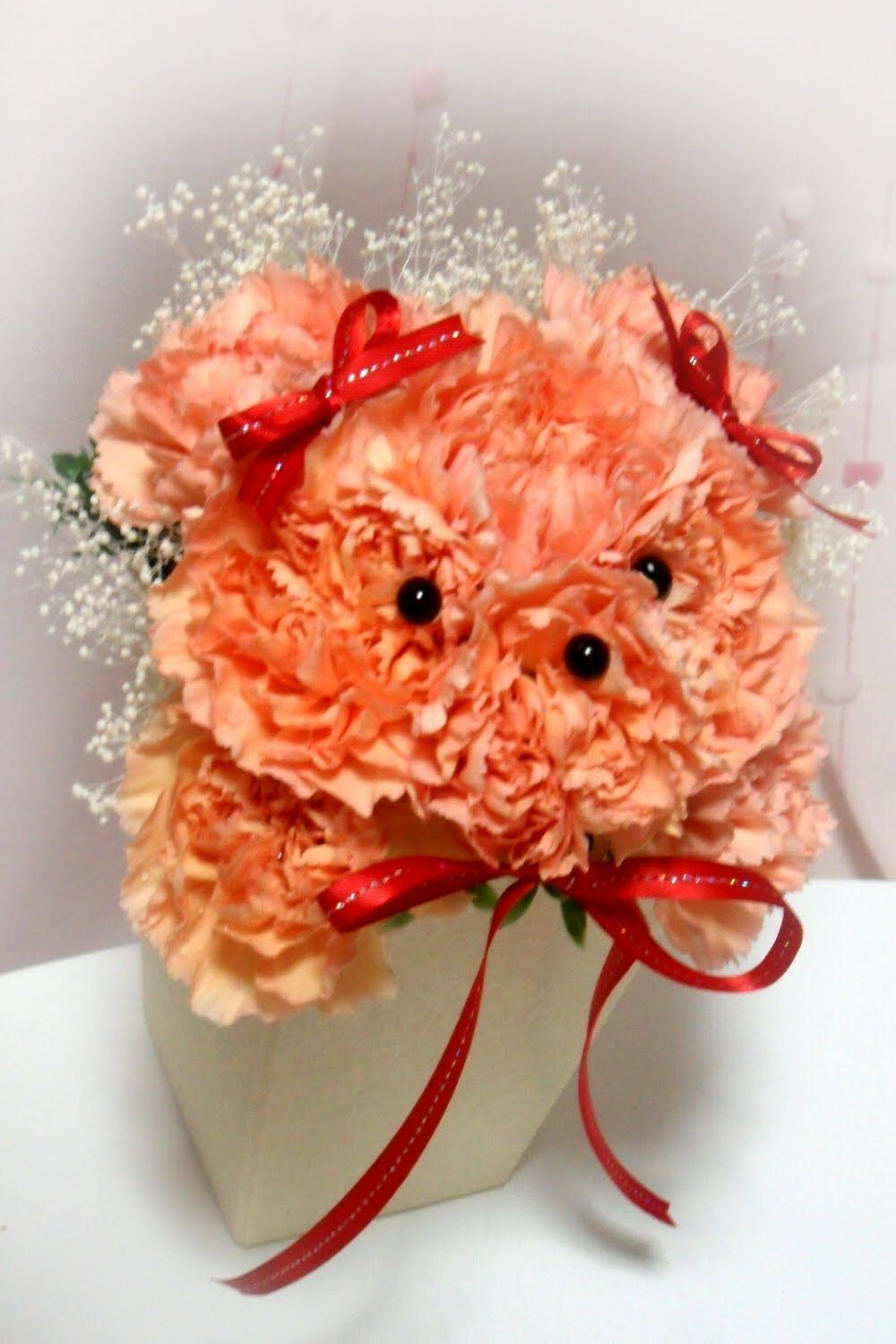 Pin By Brunilda D Agnese On Floral Arrangements Valentine S Day Flower Arrangements Valentine Flower Arrangements Animal Flower Arrangements