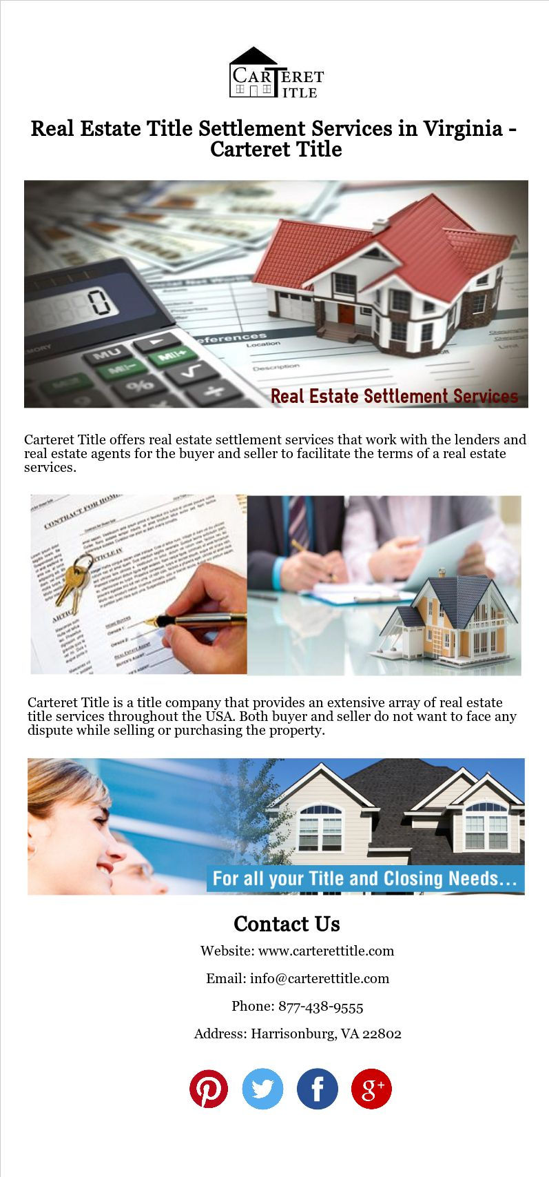 Carteret Title Offers Real Estate Settlement Services That Work
