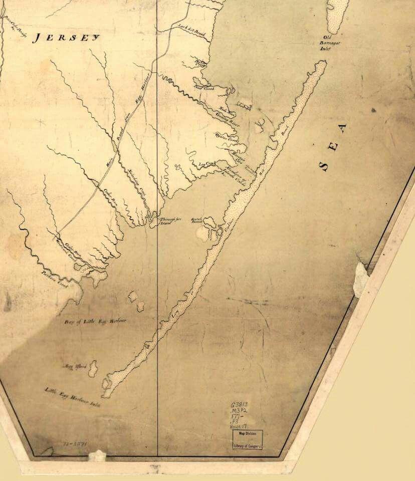 1770 Map Of Lbi As18 Mile Beach Long Beach Island Beach Haven Beach Crafts