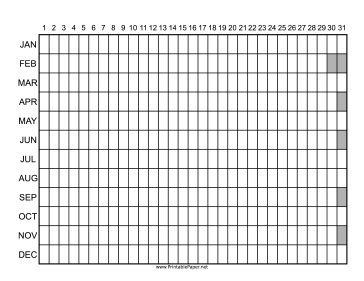 This Annual Checklist in landscape orientation has a