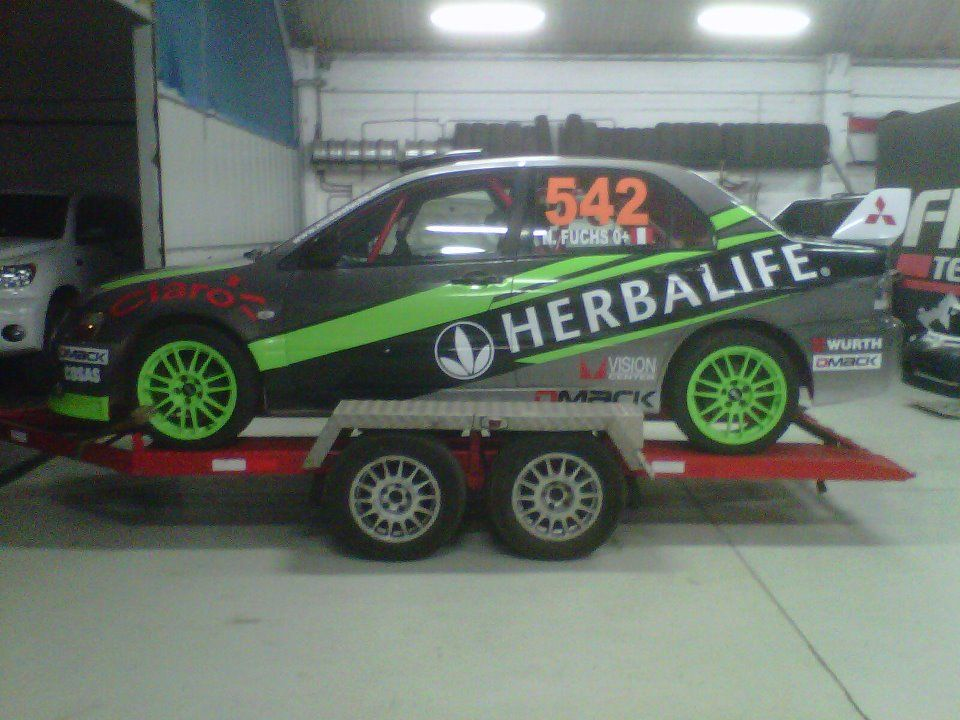 Rally Car From Herbalife Sponsored Rally Driver Nicolas Fuchs