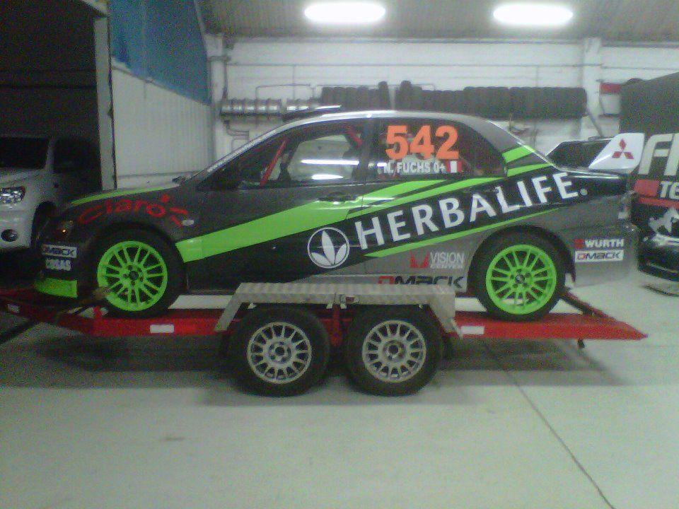 Rally Car From Herbalife Sponsored Rally Driver Nicolas Fuchs