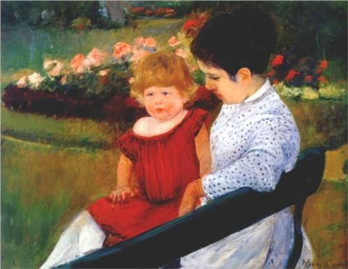 In the park - Mary Cassatt, c.1894
