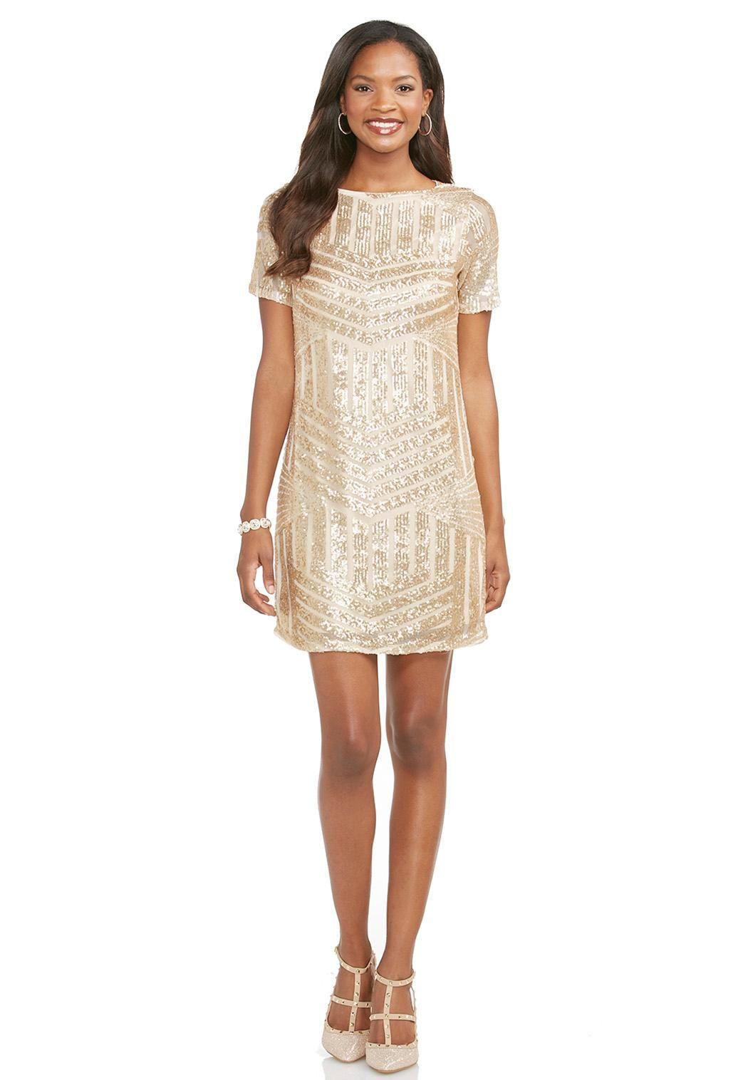 Gold Sequin Shift Dress Dresses Cato Fashions Dresses Cato Fashion Fashion [ 1516 x 1050 Pixel ]