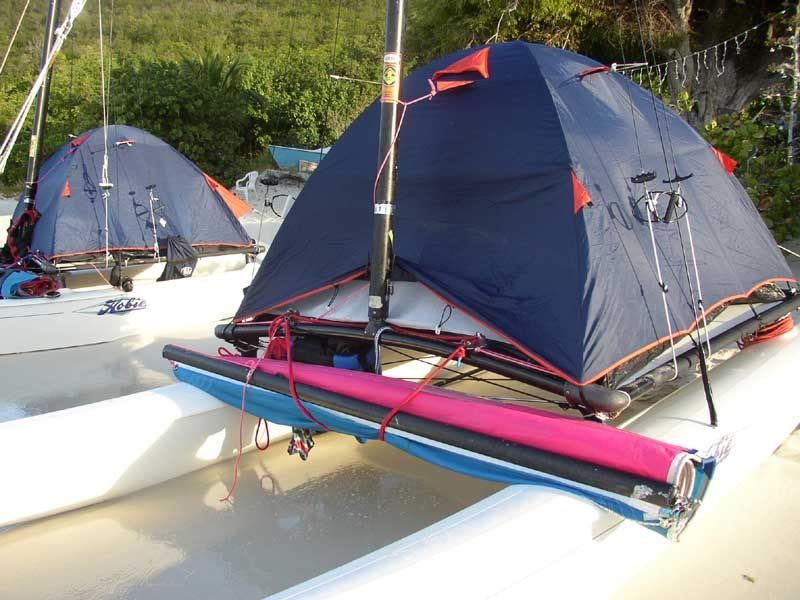 A Hobie With A Tent Is A Hobie High And Dry And Probably