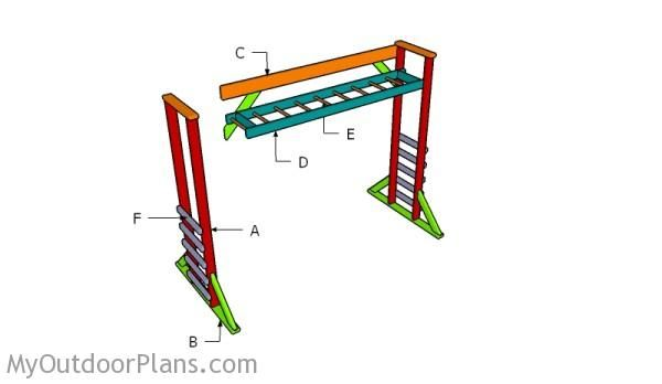 Monkey Bar Plans MyOutdoorPlans Free Woodworking Plans And - Build monkey bars ladder