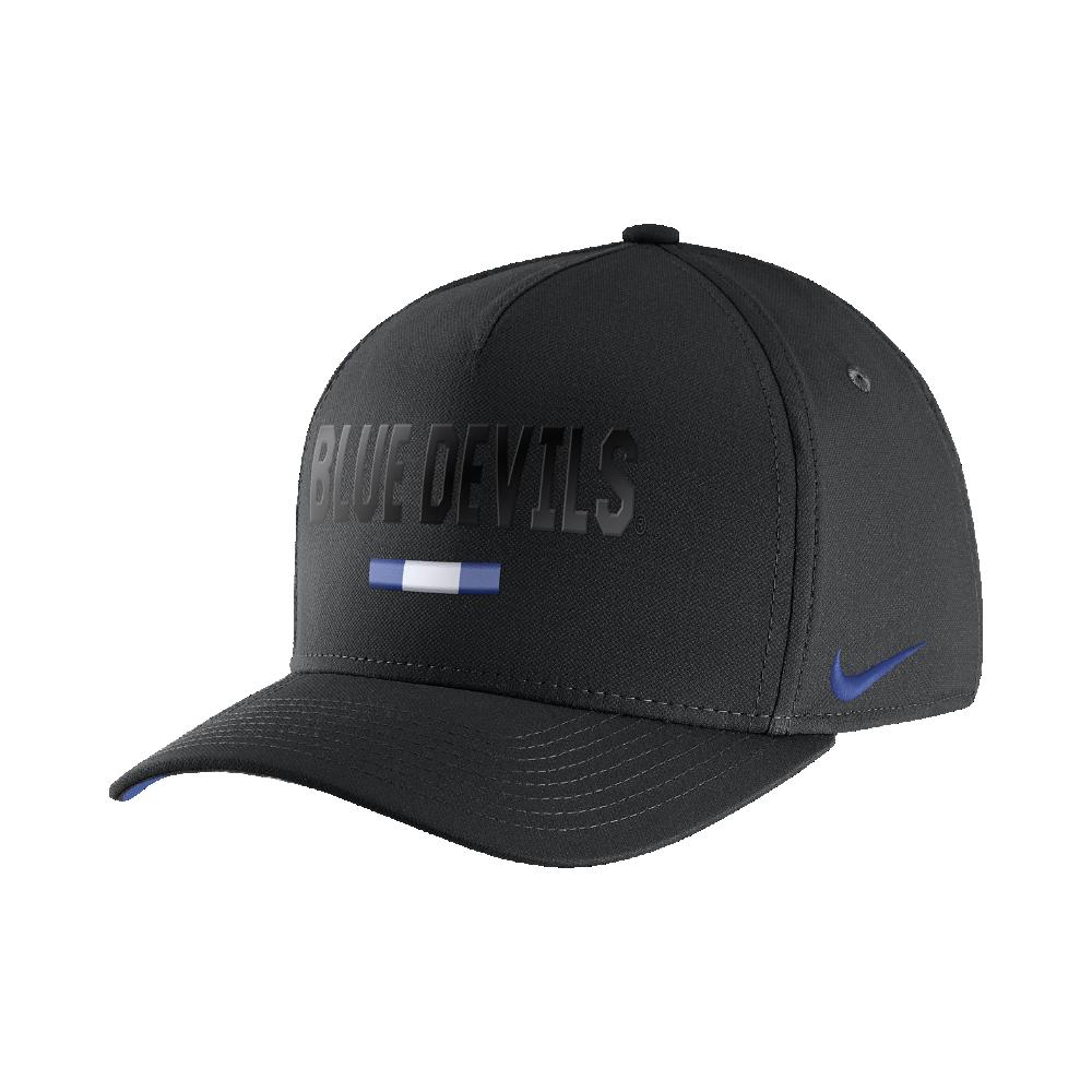 72a34f97 Nike College Classic 99 Swoosh Flex (Duke) Fitted Hat Size FLX (Black)