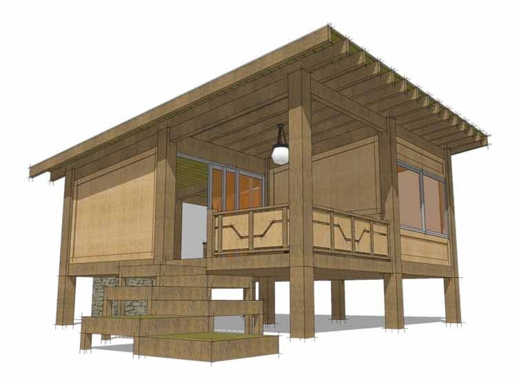 Eplans Contemporary Modern House Plan Modern One Bedroom Cabin 456 Square Feet A Modern Contemporary House Plans Modern Style House Plans Cabin House Plans