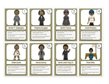 fbe6c3520 Celebrate Black History Month – Trading Cards -32 Famous African ...