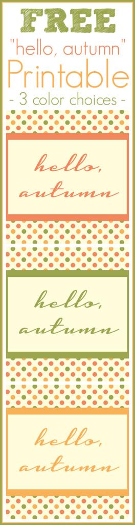 {FREE} Hello, autumn Printable