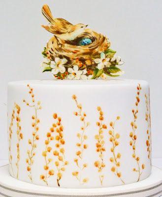 Mimosa baby shower cake
