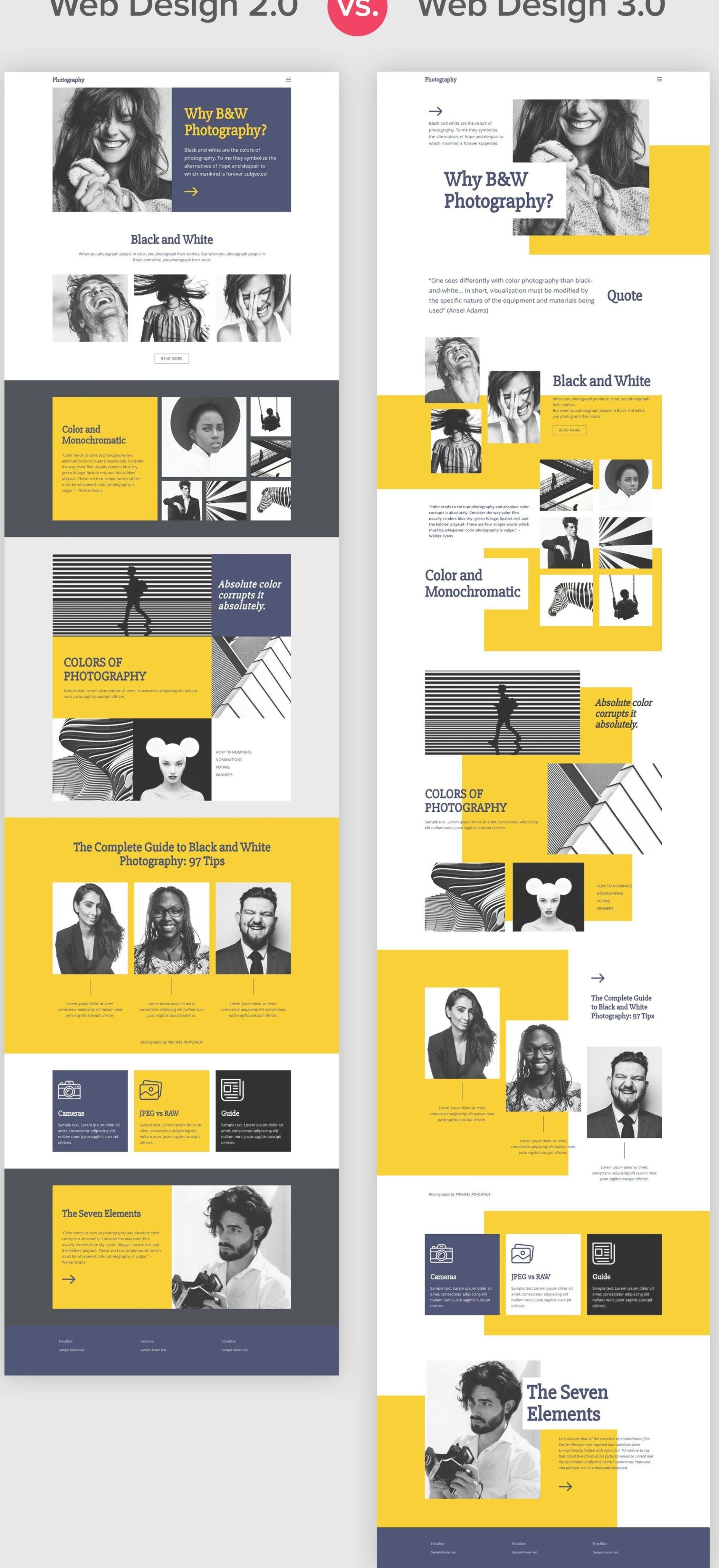 New Pages In Web Design 3 0 Differ With Free Positioning Element Overlapping White Space An Web Design Web Design Inspiration Portfolio Portfolio Web Design