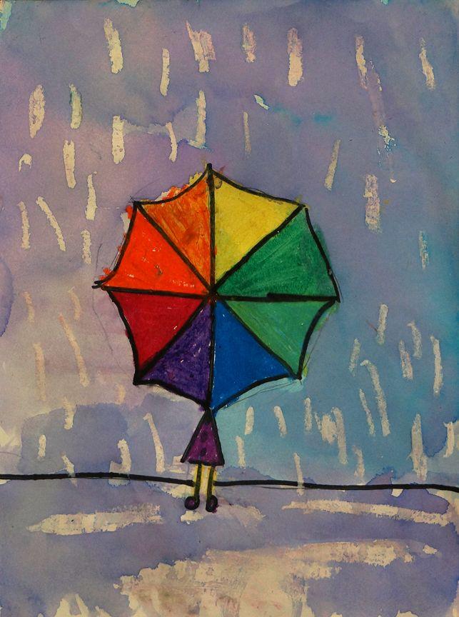 1st grade color wheel umbrellas kid art pinterest secondary