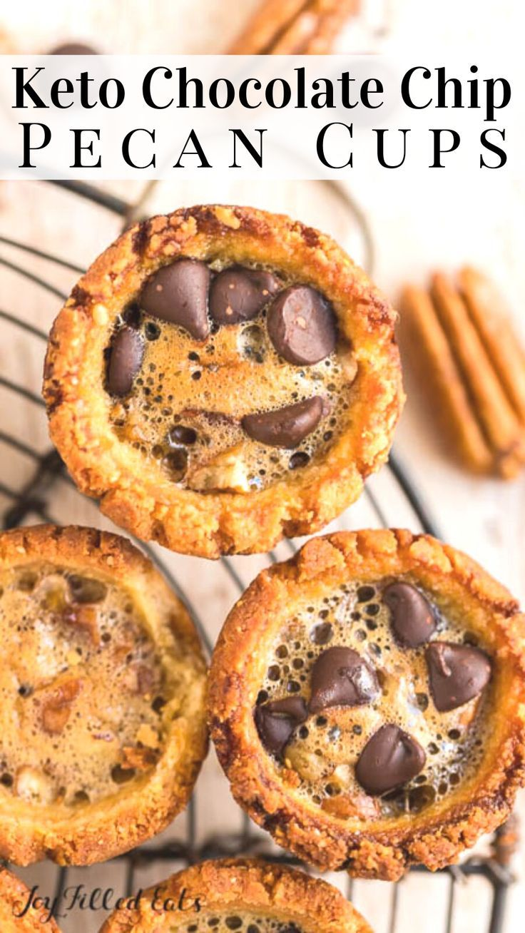 Pecan Tassies - Keto, Low Carb, Grain-Free, Gluten-Free, Sugar-Free, THM S - Pecan Cup Cookies are the perfect bite-size dessert to give you that pecan pie flavor. Mini pecan tassies are the ideal way to decorate your dessert table and serve up for the holidays.