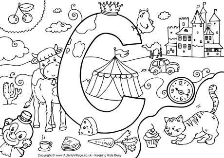 I Spy Alphabet Colouring Page C Alphabet Coloring Pages Alphabet Coloring Alphabet Preschool