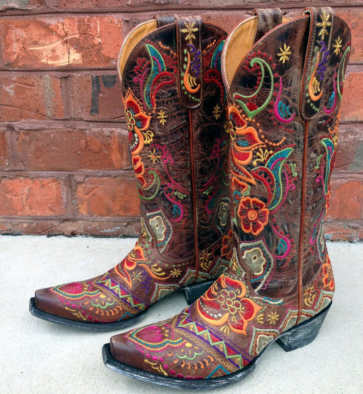 Old Gringo Olivia Brass Boots L1629 3 Cowgirl Boots