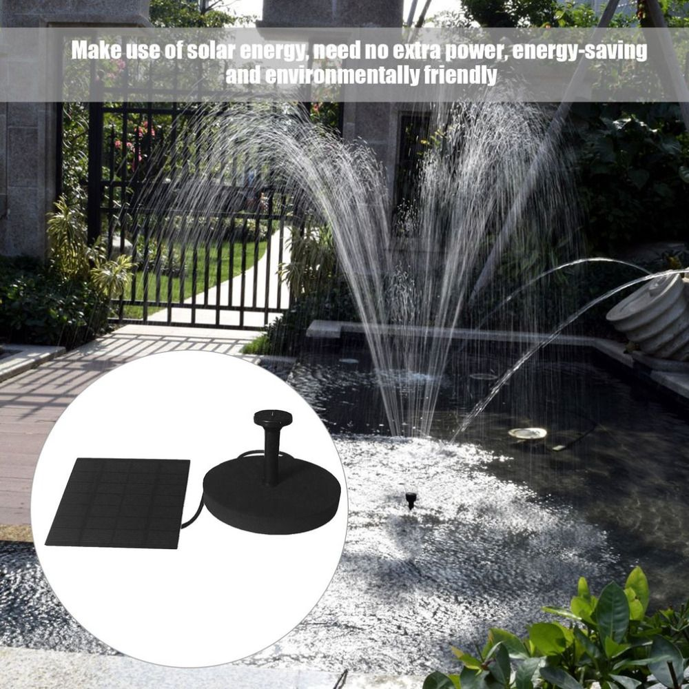Garden water features solar power  Multipurpose Solar Powered Water Fountain Pump Kits Floating