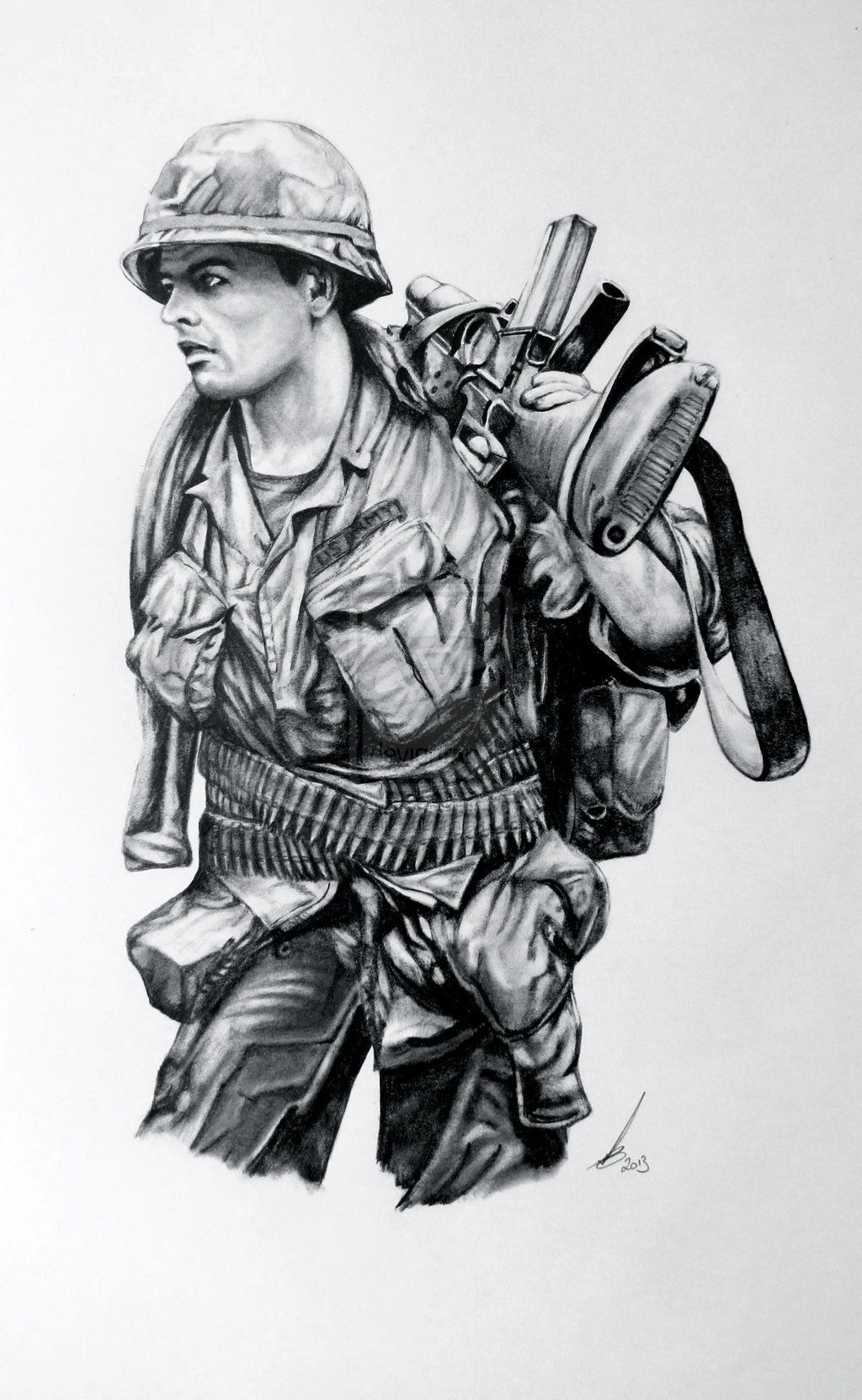 Image result for pencil drawings of ww2 soldiers