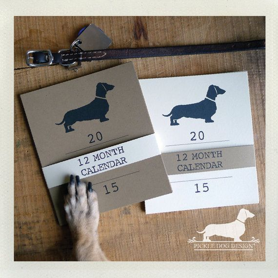 Doxie Love 2019 Desktop Calendar Vintage Style Dog