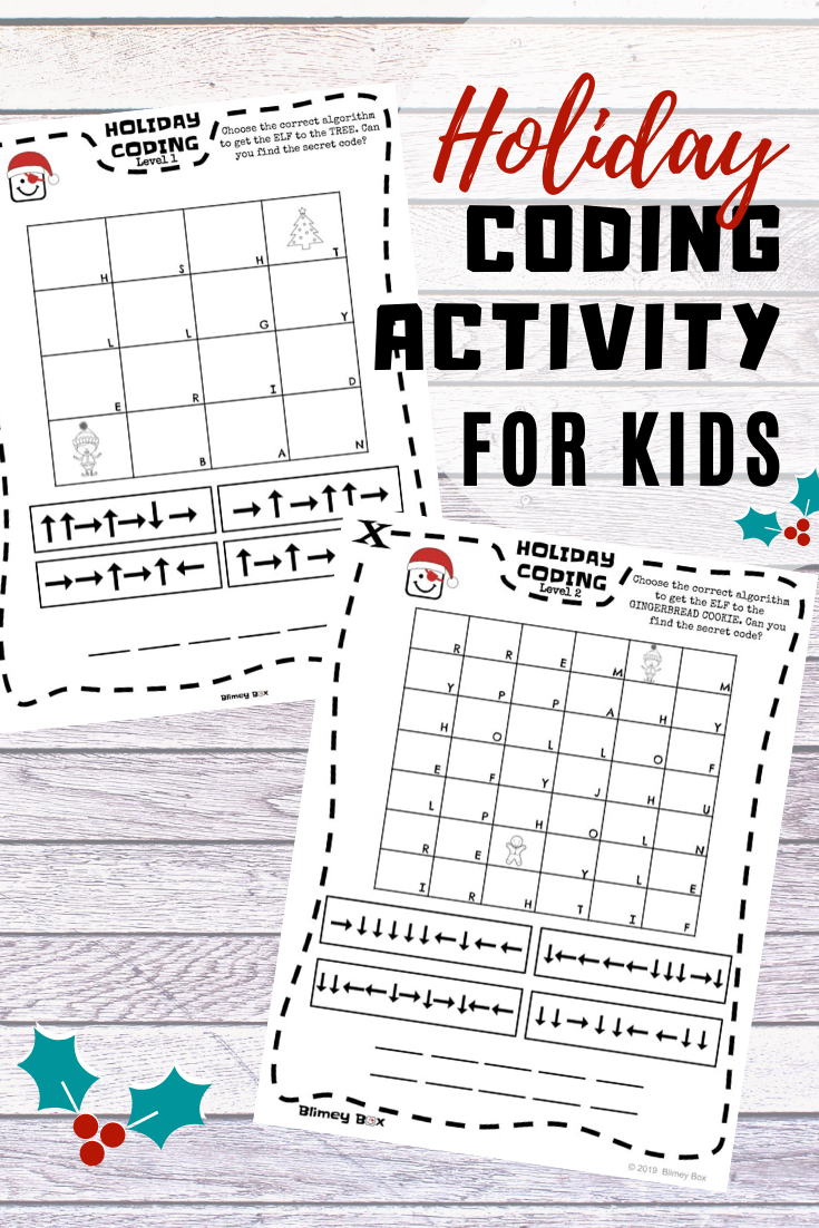 Holiday Coding Activity Unplugged Coding Activities Coding For Kids Teaching Coding