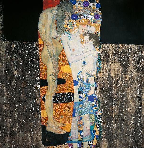 The Three Ages Of Woman By Gustav Klimt Klimt Art Klimt Paintings Gustav Klimt
