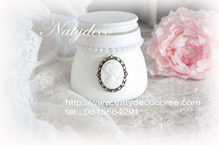 Un petit nouveau pot chez Natydeco dans la rubrique bocaux peint en vente http://www.natydecocorse.com