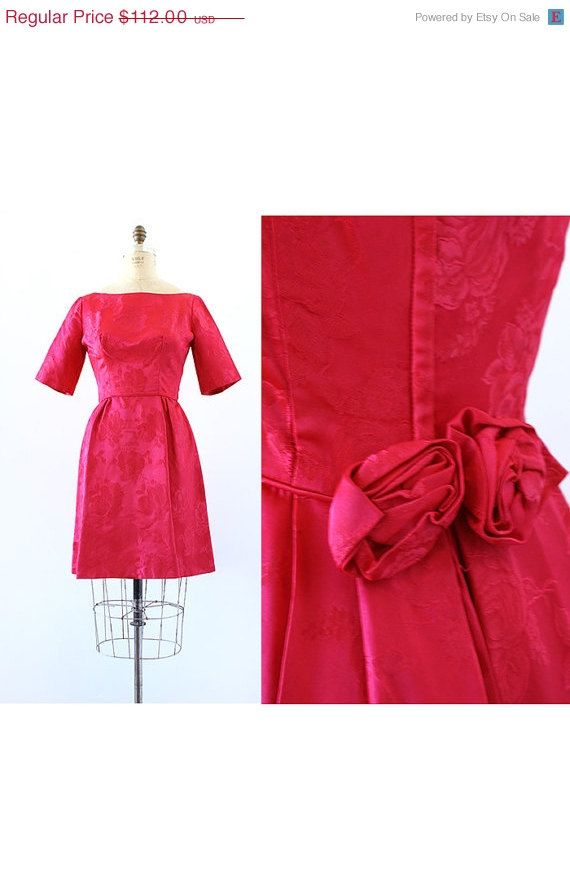 20 OFF STOREWIDE SALE 1950s dress / Rosette by LantanaVintage