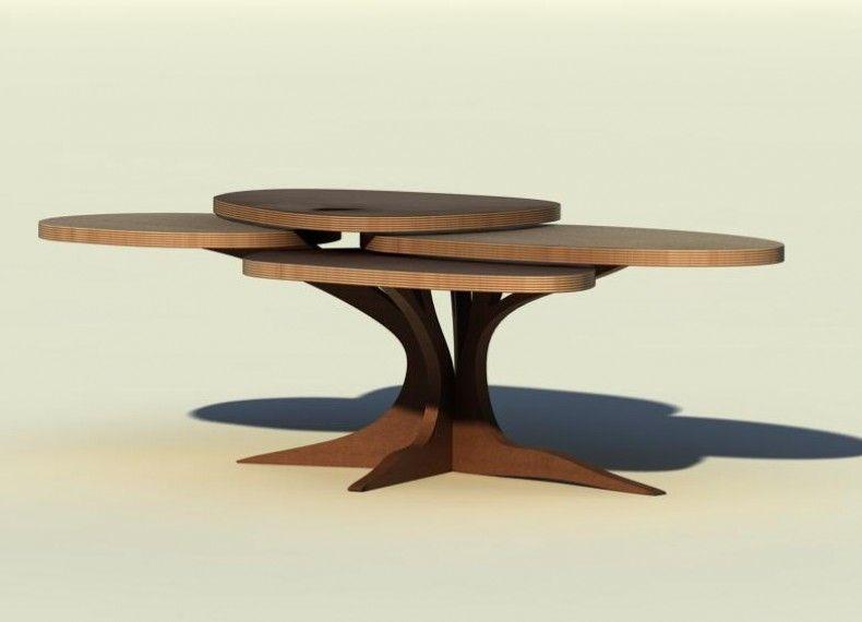 Tavolini Da Salotto Divani E Divani.Acacia E Un Tavolino Da Salotto Con Quattro Piani Rotanti Pensato