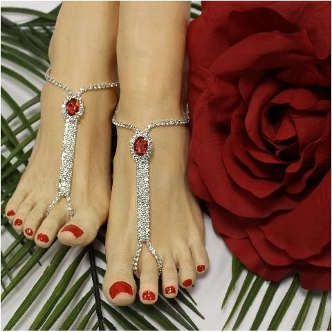 b61edd8c955e5 BRIDESMAID barefoot sandals - red in 2019