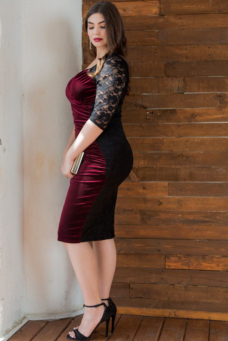Show Off Your Curves In Our Plus Size Hourglass Lace Dress This