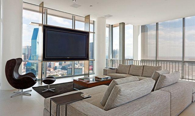 Schöne Einrichtungsideen für Wohnzimmer mit Fernseher | Fernseher ...