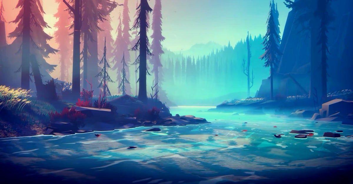 Minimalist Forest River Wallpaper [3840x2160]