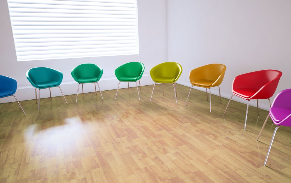 Colourful chairs