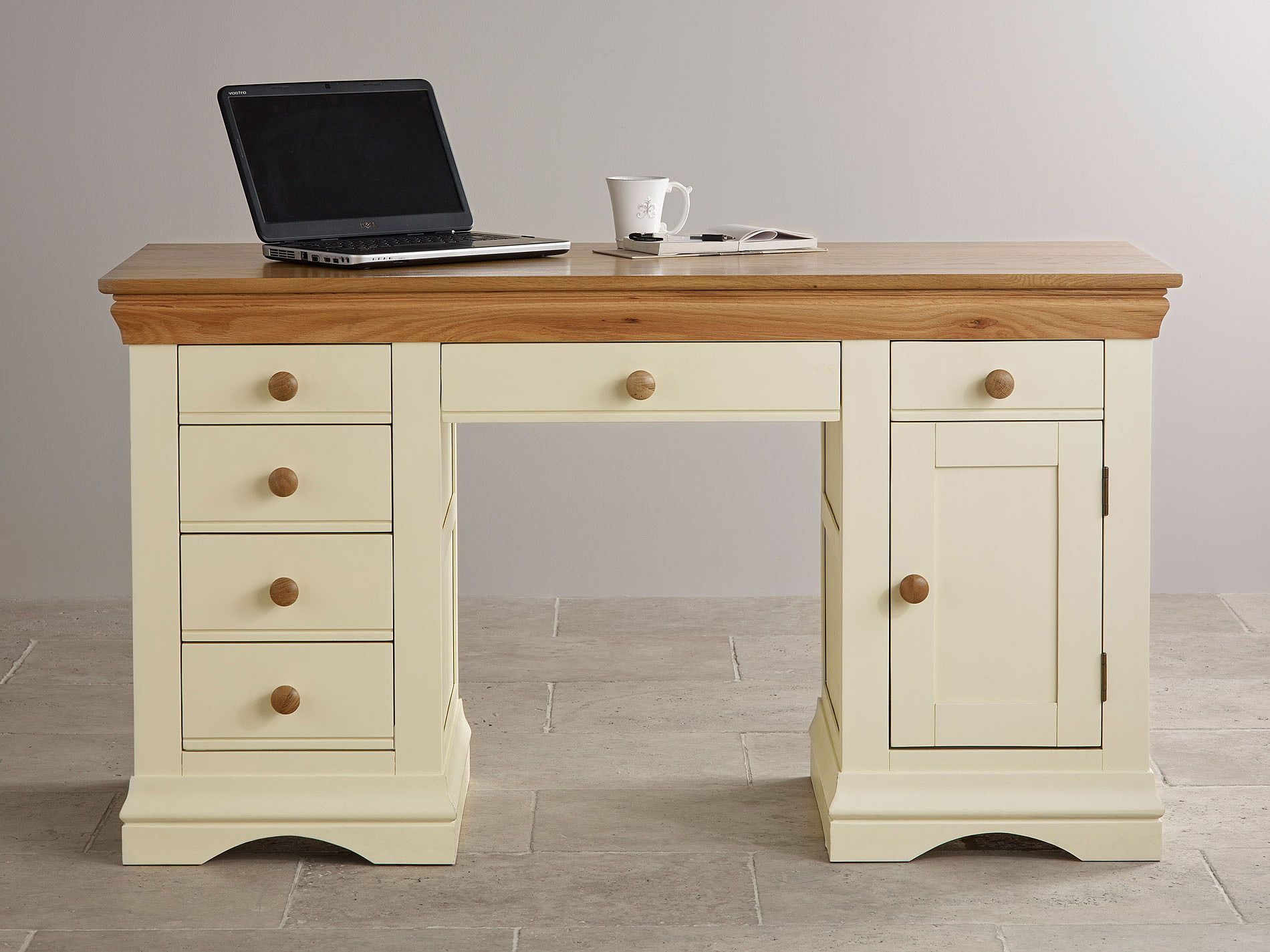 Natural Oak Painted Computer Desks
